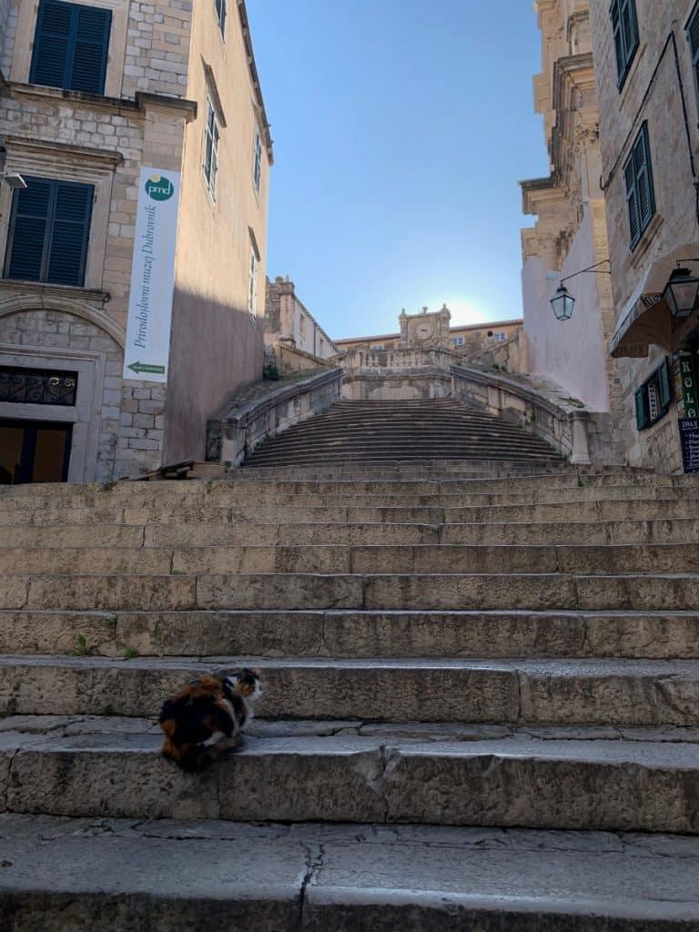 Game of Thrones steps in Dubrovnik, Croatia