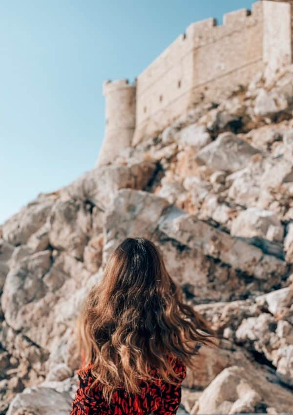 Looking at Dubrovnik's historic walls