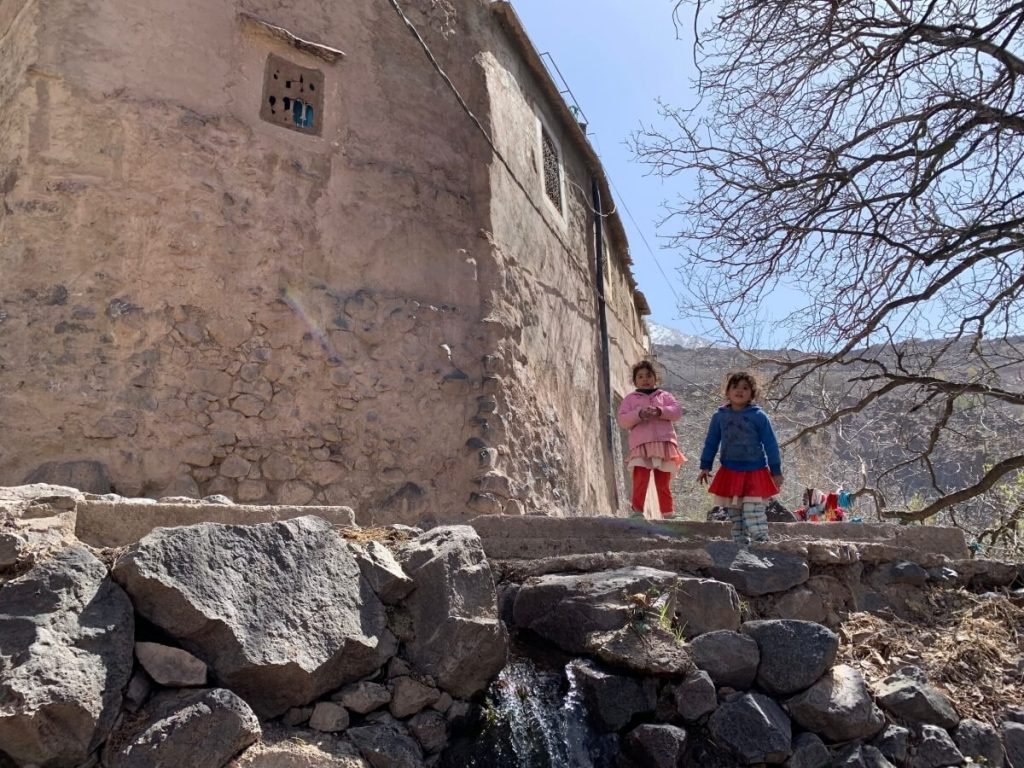 Children in the Imlil Village in the High Atlas Mountains, Morocco