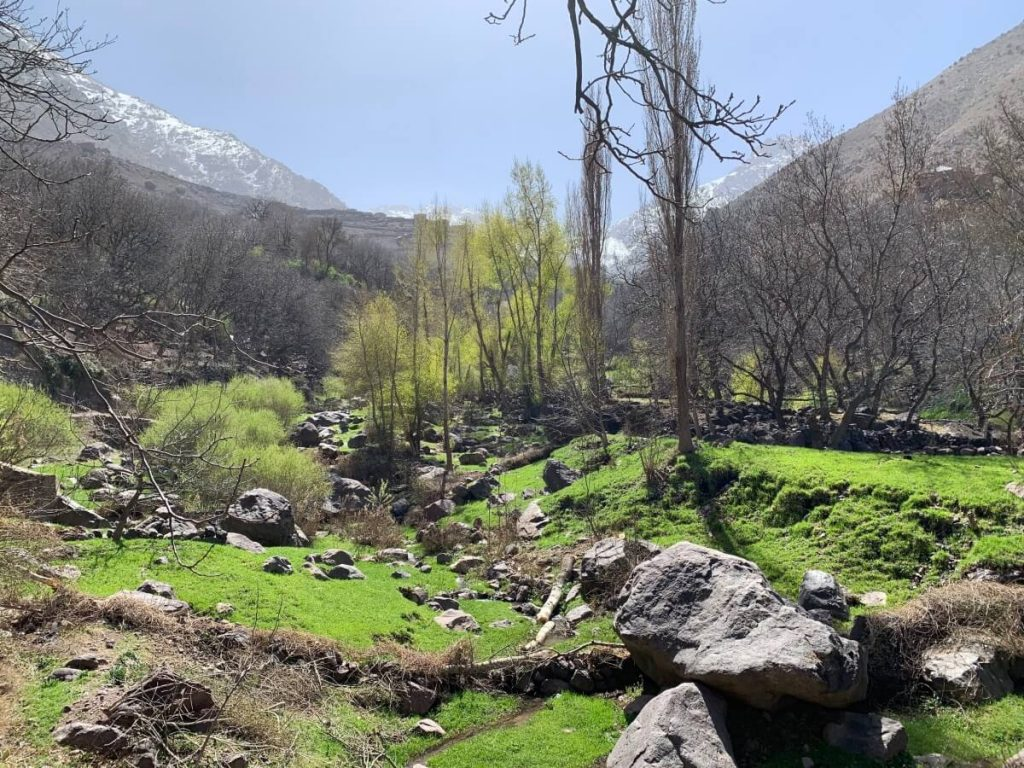 Imlil Valley in the High Atlas Mountains