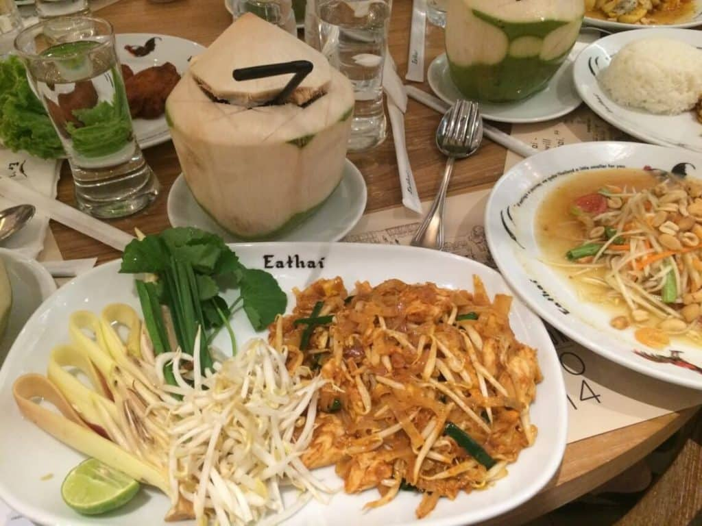 Ultimate Guide to Bangkok Thailand | Plate of classic Thai food at Eathai, located in Central Embassy Mall in Bangkok