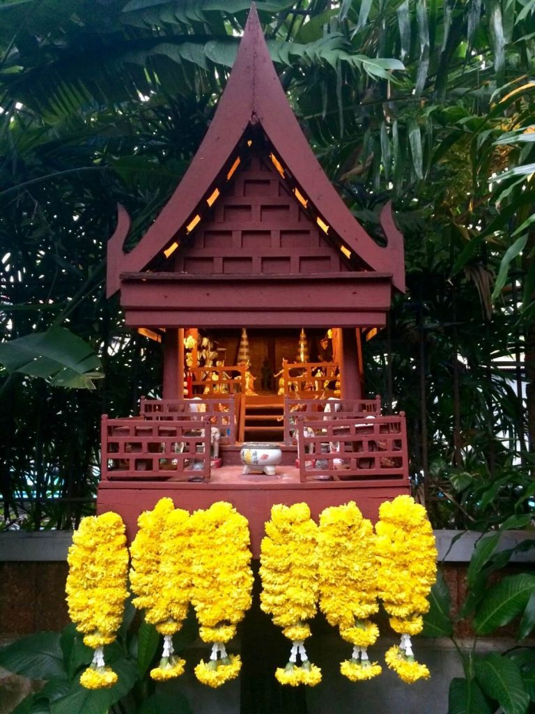 Ultimate Guide to Bangkok | A spirit house in front of the Jim Thompson House in Bangkok, Thailand