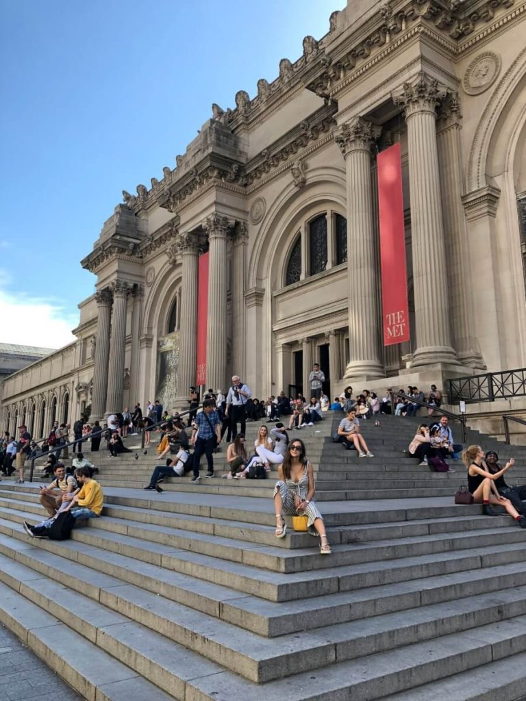On the steps of the MET in New York City