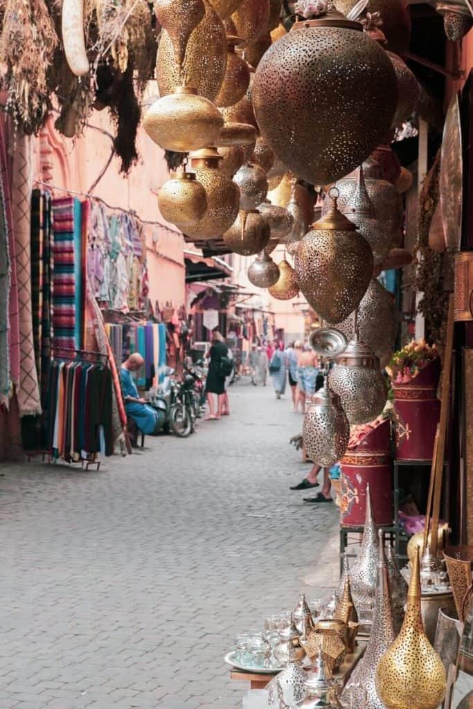 Souks in Marrakech, Morocco