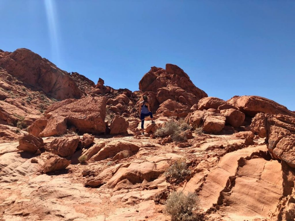 Rock formations in the Valley of Fire State Park