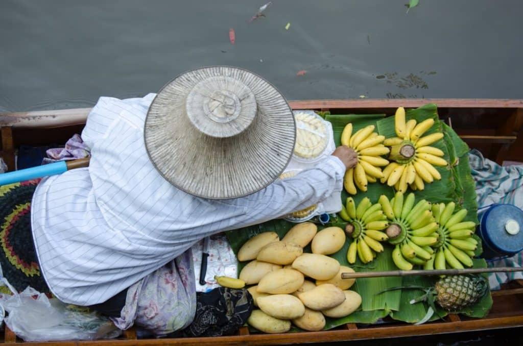 Amphawa Flowating Market in Thailand