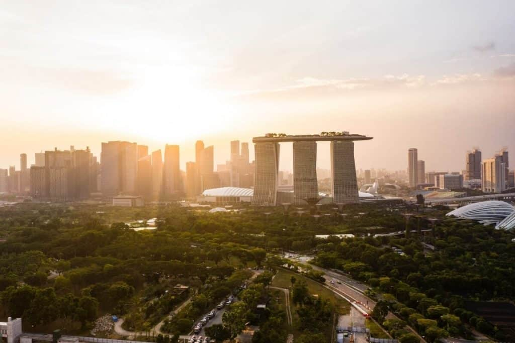 Marina Bay Sands Singapore at Sunset