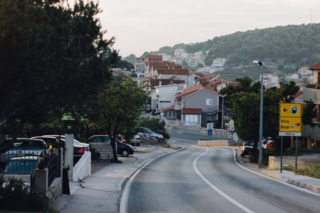 Road on Hvar Island, Croatia
