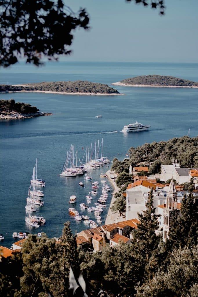 A gorgeous view over Hvar Town, Croatia