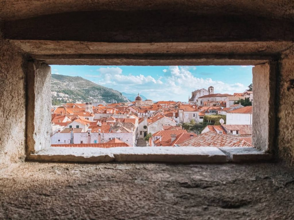 View of Dubrovnik Croatia from the ancient city walls