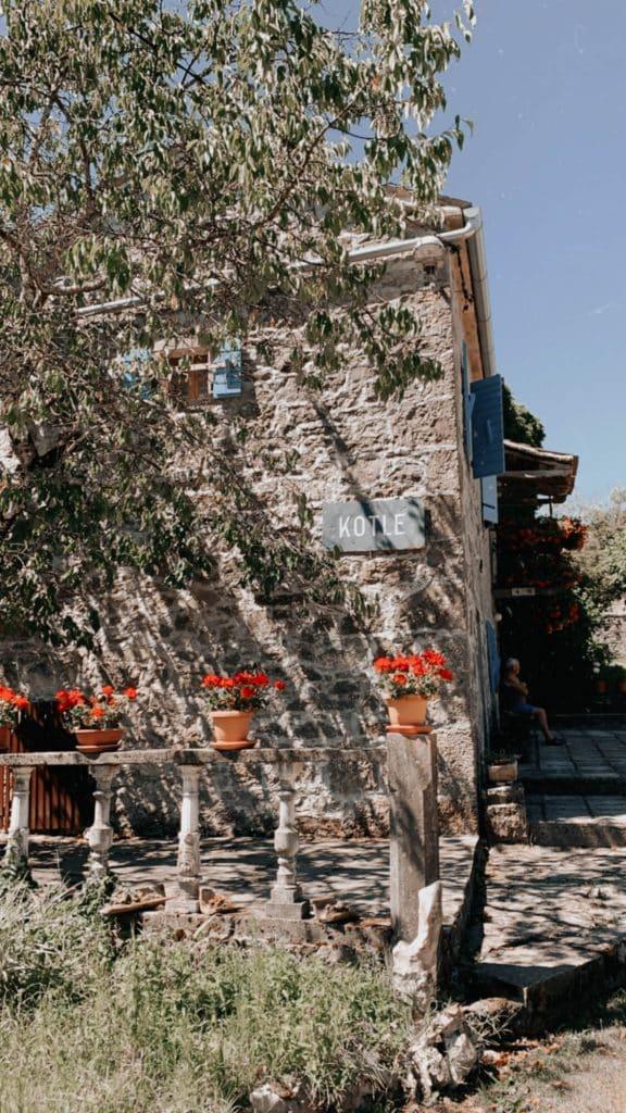 Old stone house in Kotle, Istria Croatia