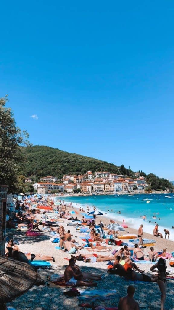 Moscenicka Draga Beach in Istria Croatia