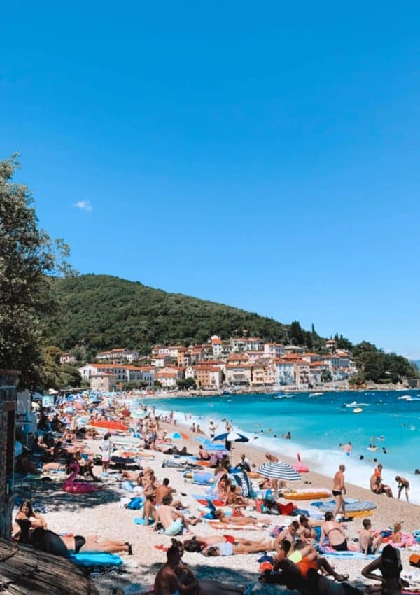 Moscenicka Draga Beach in Istria Croatia
