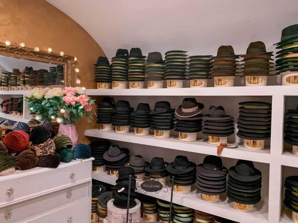 Shopping in Croatia - Cahun Zagreb Hat Shop