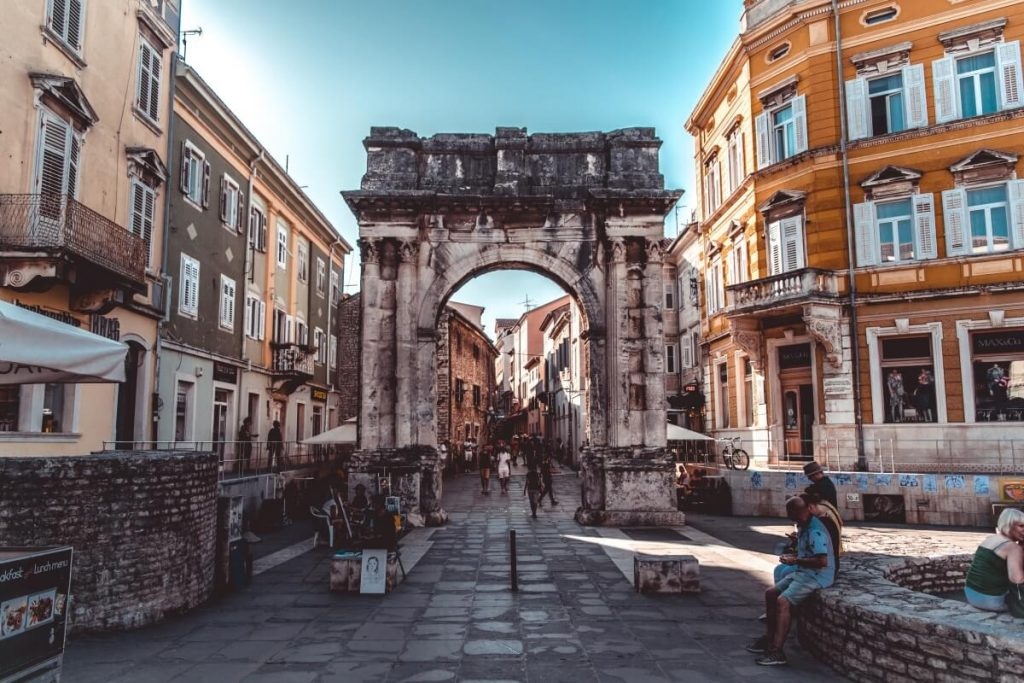 Arch of Sergii in Pula, Croatia