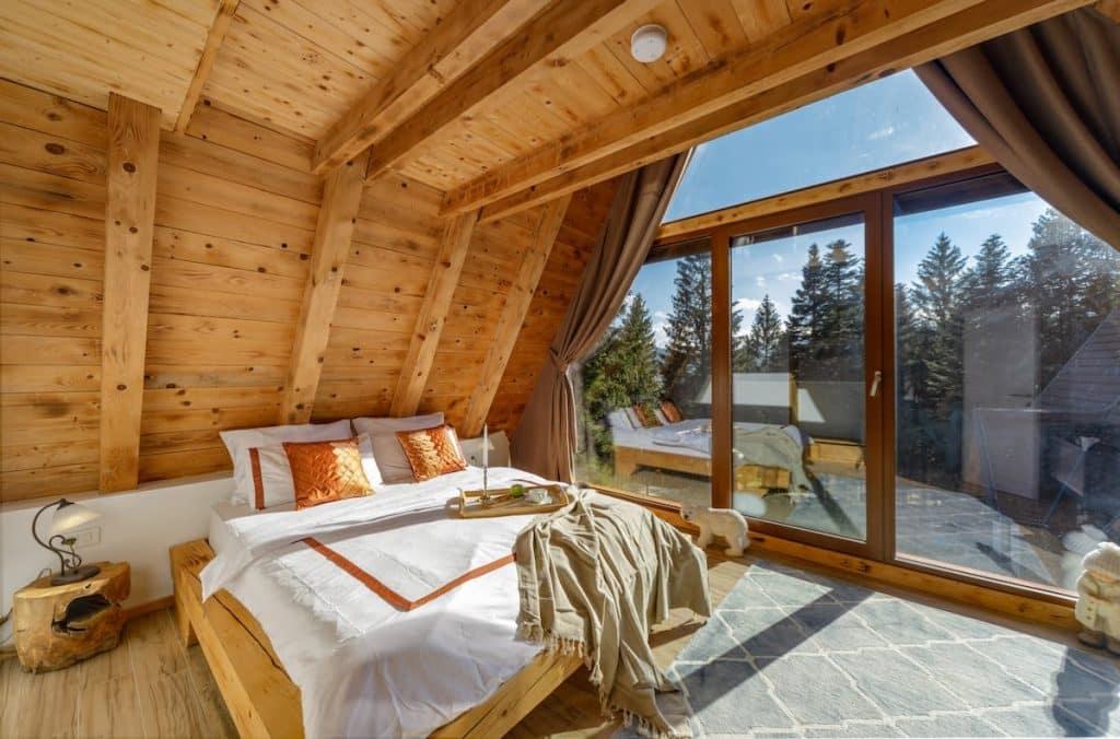 Forest Villa Home Bedroom in Croatia