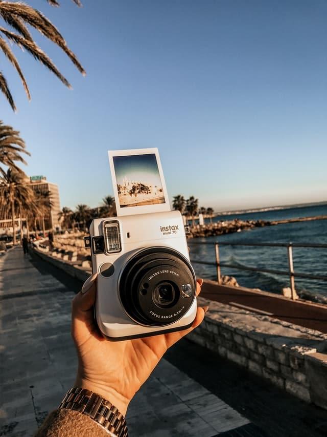 Instax camera road trip accessory