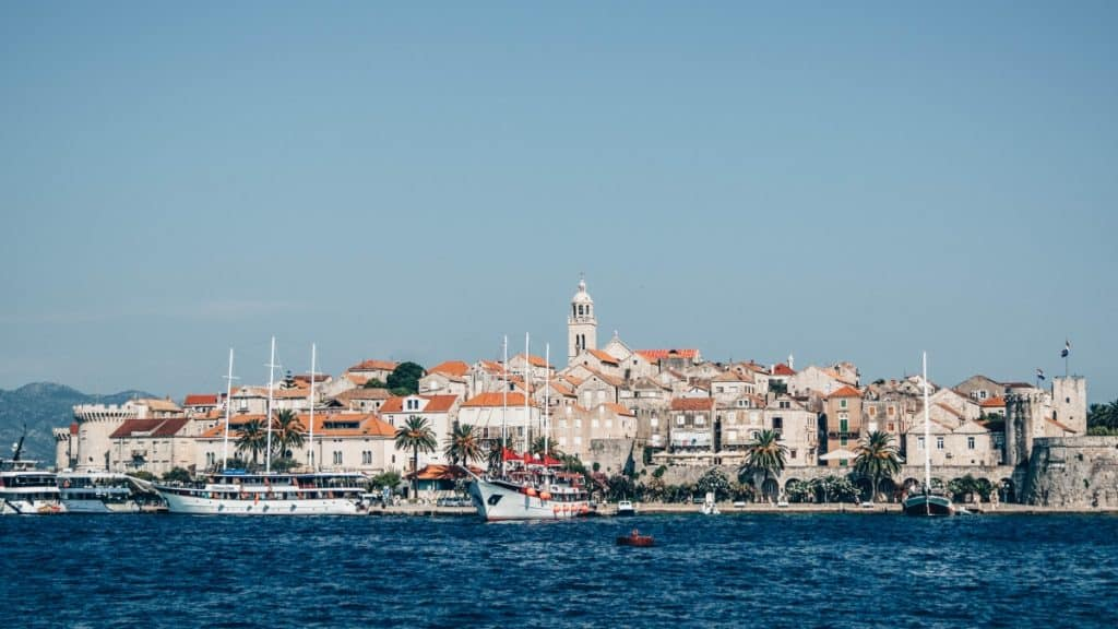 The beautiful island of Korcula off the coast of Croatia