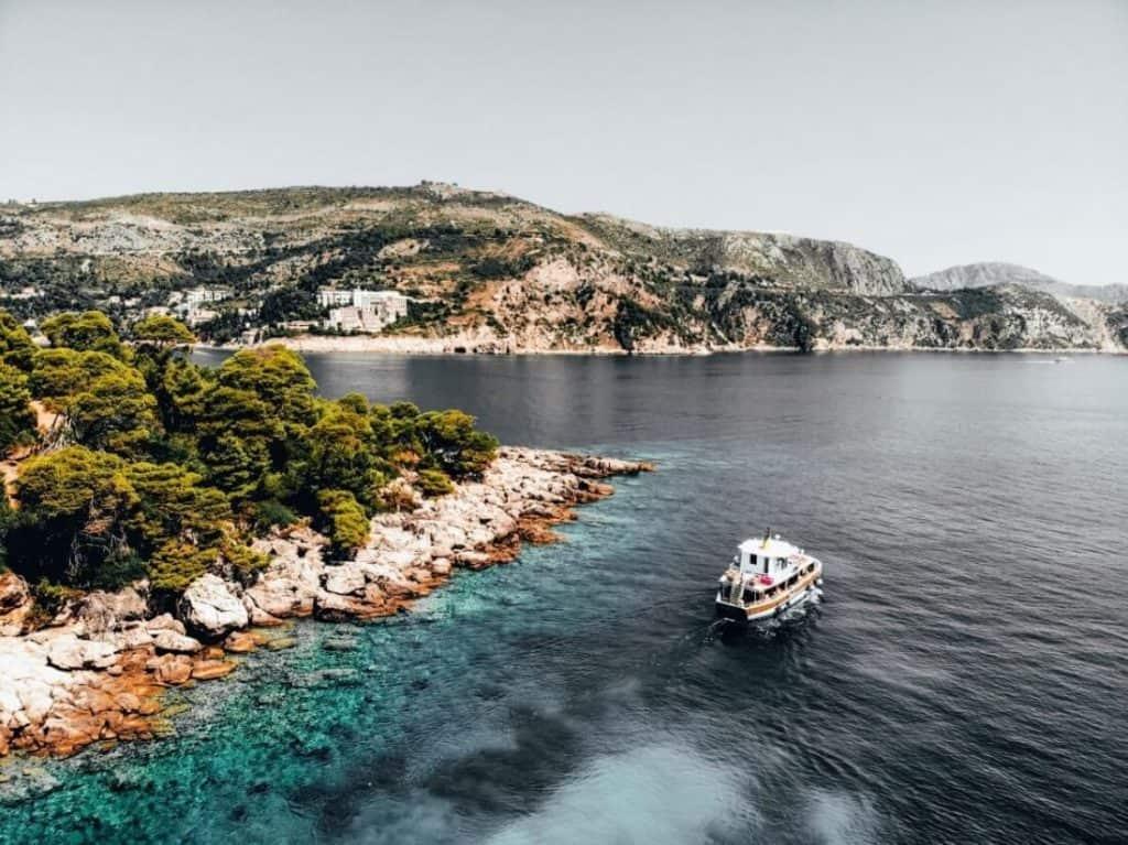 Lokrum Island in Dubrovnik Croatia