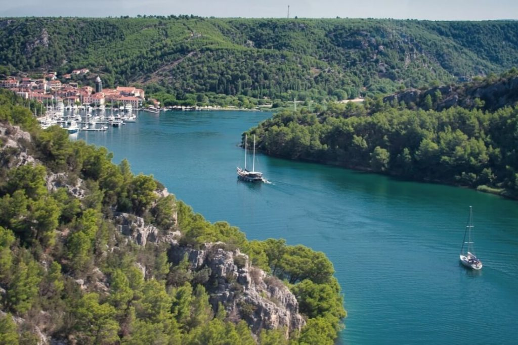 View of Skradin Croatia