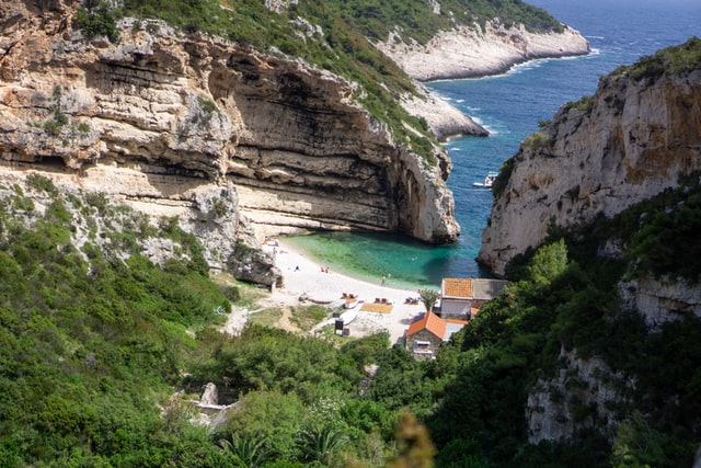 Stiniva Beach on Vis Island | Croatia Island Hopping