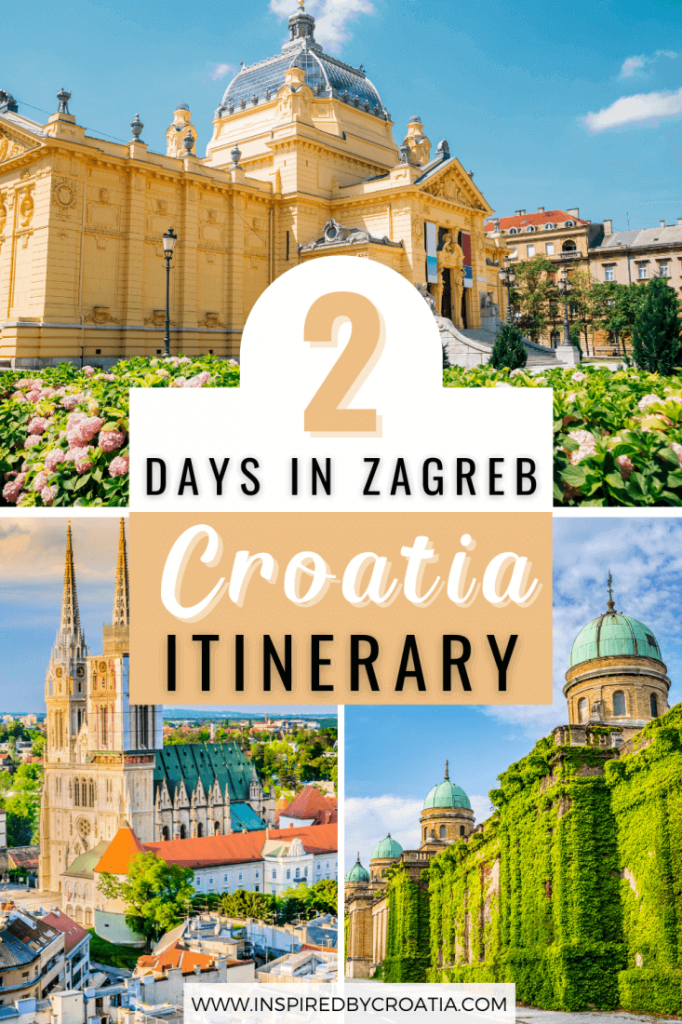 Beautiful photos of Zagreb Croatia including the Art Pavillion, Zagreb Cathedral, and Mirogoj Cemetery.