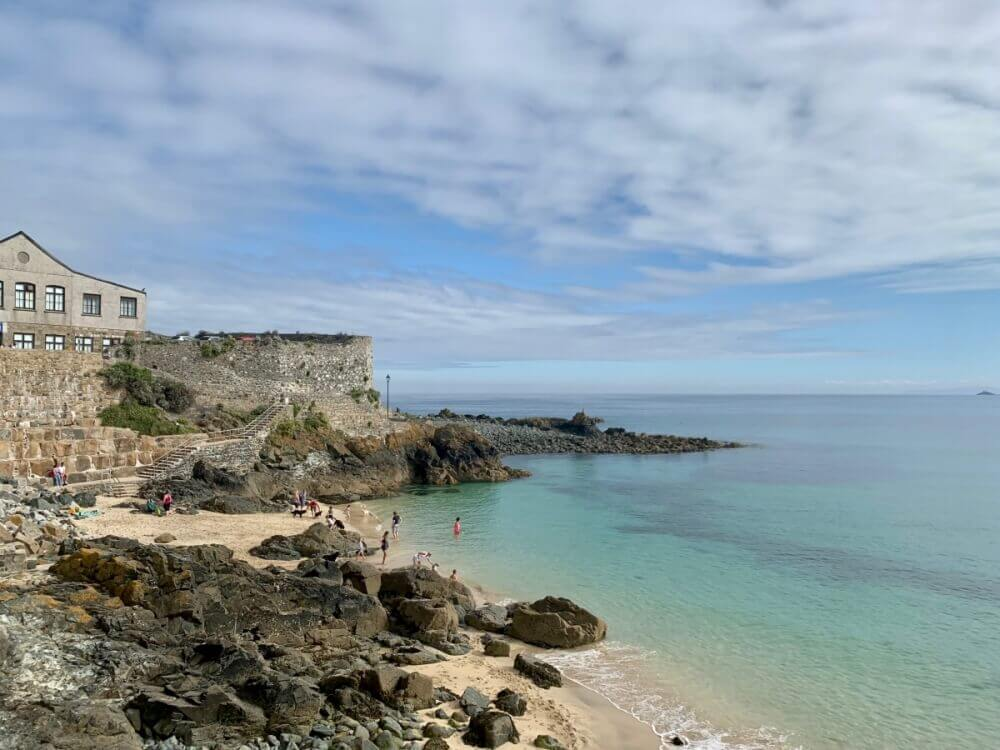A beautiful beach at St. Ives in Cornwall