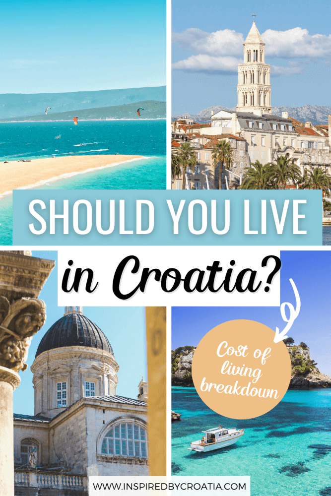 The exact cost of living in Croatia