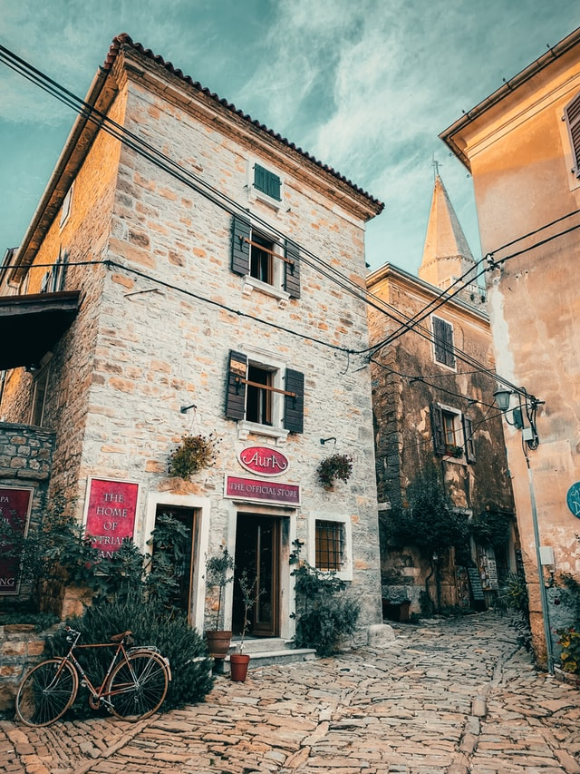 A gorgeous stone town of Groznjan located in the Istria region of Croatia.