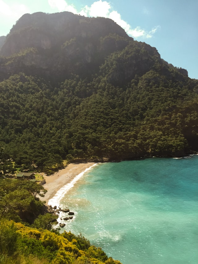 Kabak Plaji, one of the most beautiful beaches in Europe, located in Turkey.