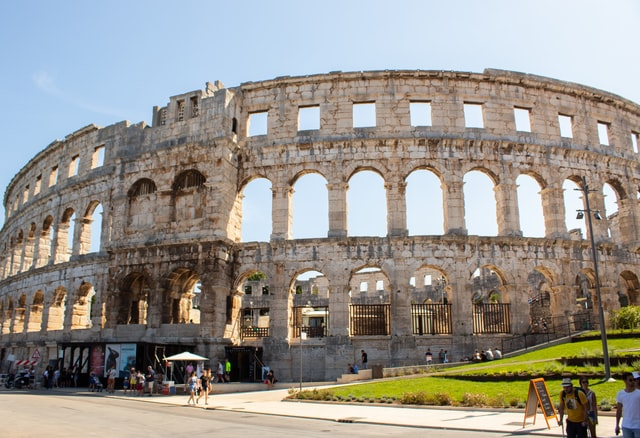 Roman Amphitheater in Pula, Croatia | 7 Day Istria Itinerary