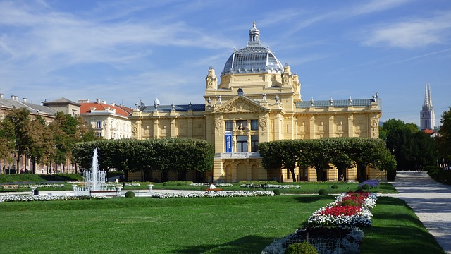 Art Pavillion on King Tomislav Square in Zagreb, Croatia