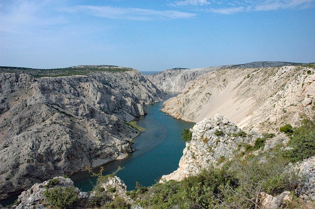 A stunning view over the Zrmanja River Canyon in Croatia