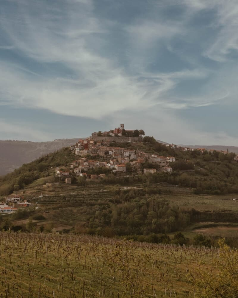 A fairytale town situated on a hilltop in Istria, Croatia. | Motovun